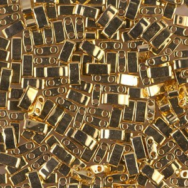 24kt Gold Plated Miyuki® Half Tila 50 Grams