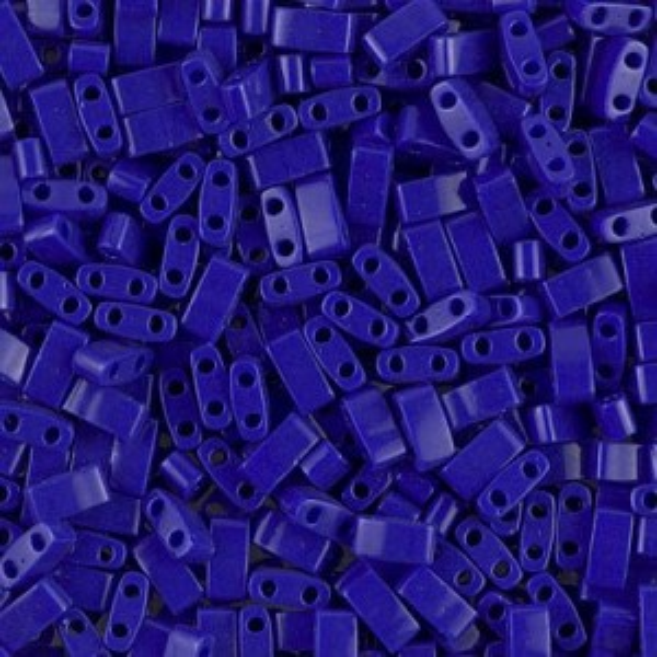 Opaque Cobalt Miyuki® Half Tila 100 grams (Rough Estimate 2500 Pcs)