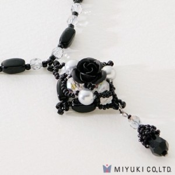 Miyuki® Noir Rose Necklace Kit