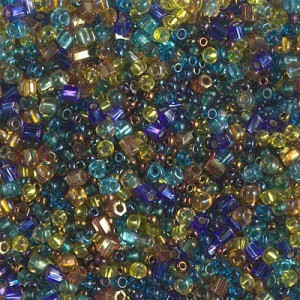 Mini Mix - Galactic Blue Gold 250 Grams Miyuki® Beads