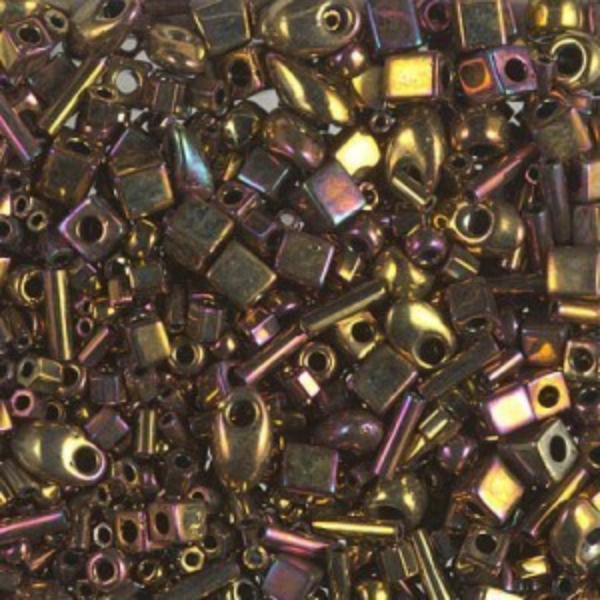 Multi Mix - Metallic Gold Iris (462) 250 Grams Miyuki® Beads