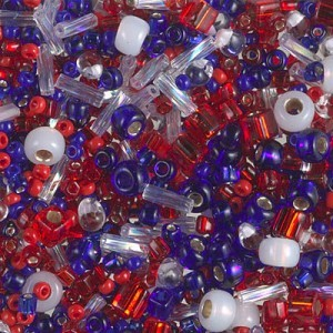 Multi Mix - Fourth of July 250 Grams Miyuki® Beads