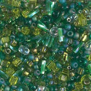 Multi Mix - Ever Green 250 Grams Miyuki® Beads