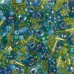 Multi Mix - Electric Blue Lagoon 250 Grams Miyuki® Beads