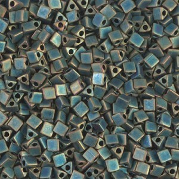 Miyuki® 8/0 Sharp Triangle Matte Met Patina Iris 250 Grams
