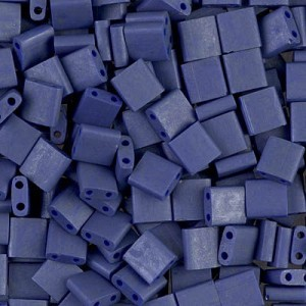 Matte Op Cobalt Luster Miyuki® Tila 5x5x1.9mm Bead 100 Grams Miyuki® Beads (Rough Estimate 1180 Pcs)
