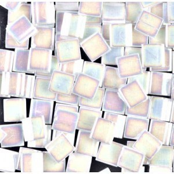 Tila 5x5x1.9mm White Pearl AB Miyuki® Beads 100 Grams (Apx 1180 Pcs)