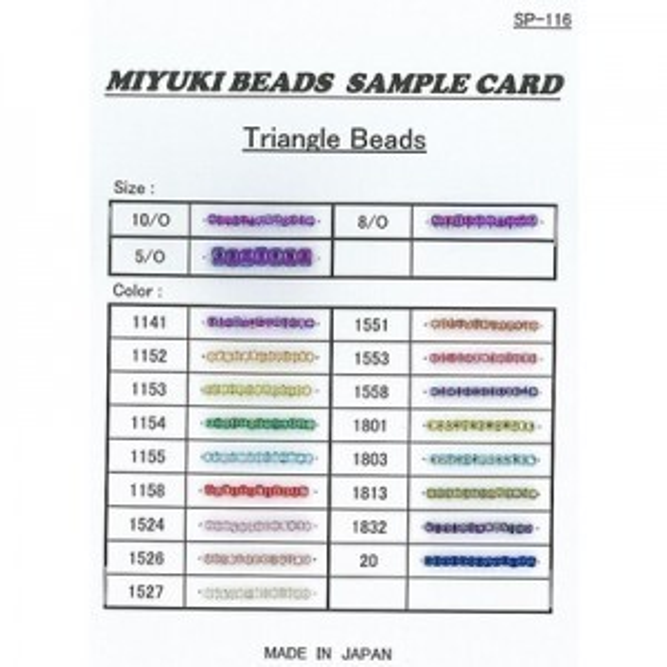 Triangle Sample Card (Sp-116) Miyuki® Beads