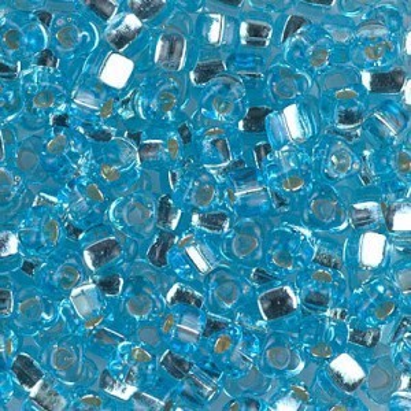 5/0 Tri S/L Aqua 250 Grams Miyuki® Beads (Rough Estimate 2700 Pcs)