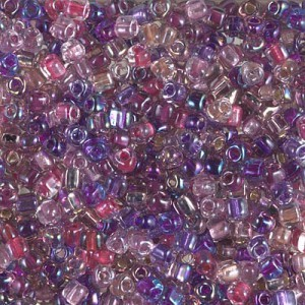 8/0 Tri Mix - Passionflower 250 Grams Miyuki® Beads (Rough Estimate 7600 Pcs)
