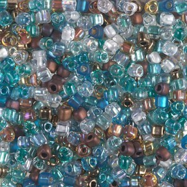 8/0 Tri Mix - Surf and Sand 250 Grams Miyuki® Beads (Rough Estimate 7600 Pcs)