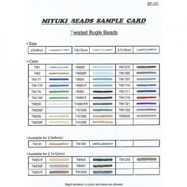 Twisted Bugle Sample Card (Sp-121) Miyuki® Beads
