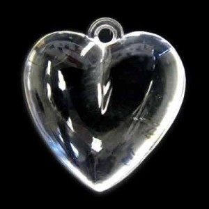 28x26mm Smooth Heart Crystal Acrylic Pendant