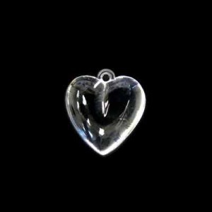14x12mm Smooth Heart Crystal Acrylic Charm
