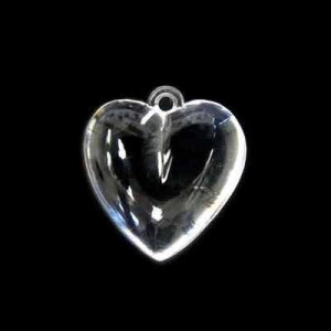 18x15mm Smooth Heart Crystal Acrylic Charm