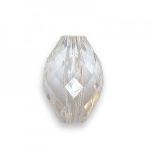 17.5x12mm Faceted Football Crystal Acrylic Bead