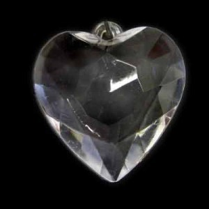 26x26mm Faceted Heart Crystal Acrylic Pendant