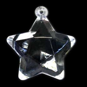 49x45mm Faceted Star Crystal Acrylic Pendant