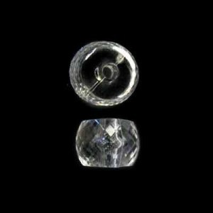 10x13mm Faceted Rondelle Crystal Acrylic Bead