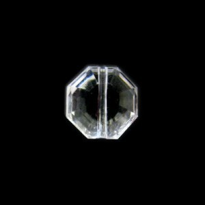 12x8mm Faceted Flat Octagon Crystal Acrylic Bead