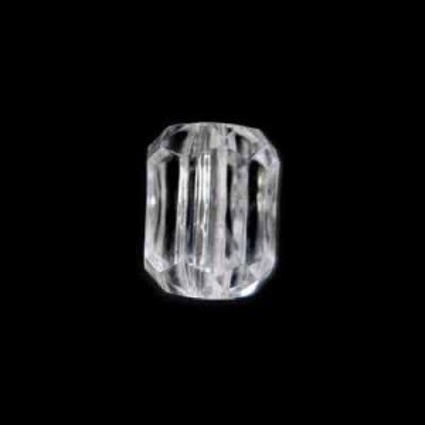 14x11mm Beveled Cut Tube Crystal Acrylic Bead