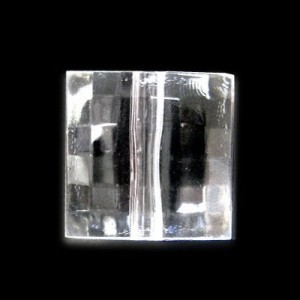 19x19mm Faceted Checker Cut Crystal Acrylic Bead