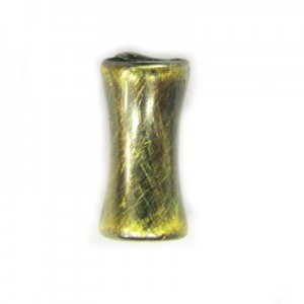 12x6mm Dog-Bone Brushed Satin Brass
