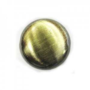 17x8mm Tablet Bead Brushed Satin Brass