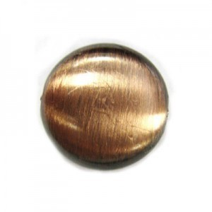 17x8mm Tablet Bead Brushed Satin Copper