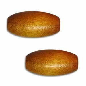 20x9mm Wood Oval Bead Light Brown