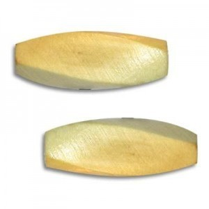30x11mm Sliced Wood Oval Bead Natural