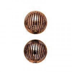 9mm Round Onion Bead Antique Copper