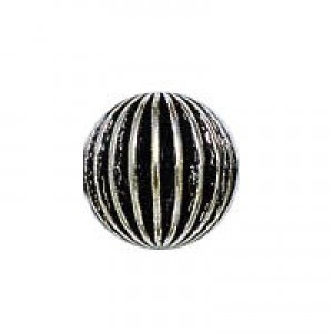 12mm Onion Bead Antique Silver