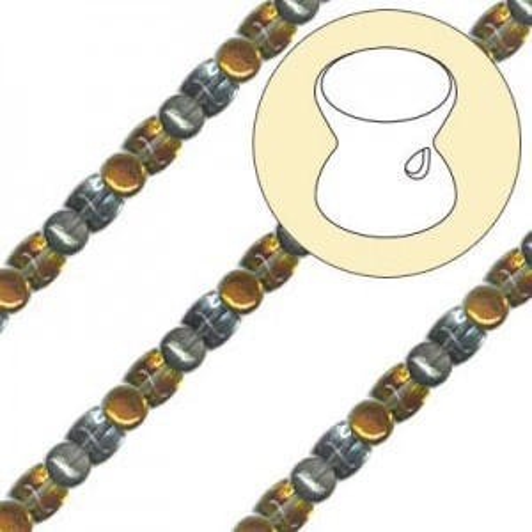 4x6mm Marea Pellet Czech Glass Beads - 7 Inch Strand (Apx 44 Beads)