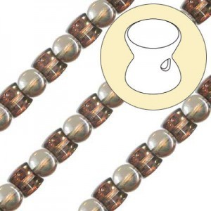 4x6mm Crystal Capri Pellet Czech Glass Beads - 7 Inch Strand (Apx 44 Beads)