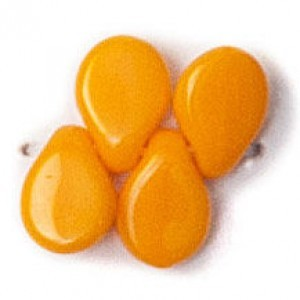 Pip Czech Glass Beads 5x7mm Orange Opaque (300pc)