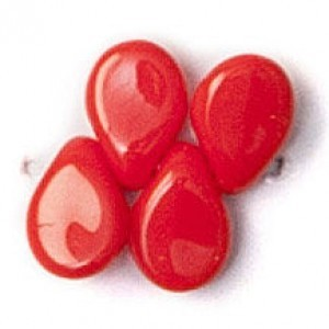 Pip Czech Glass Beads 5x7mm Coral (300pc)