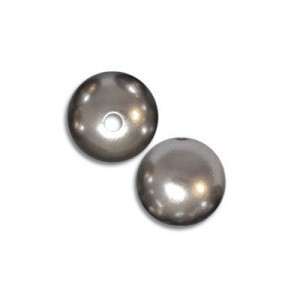 8mm Smooth Round Plastic Silver Pearl Bead (288 Pieces Per Bag)