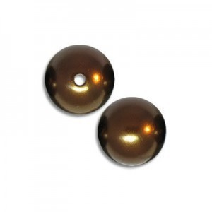 10mm Smooth Round Plastic Cocoa Brown Pearl Bead (108 Pieces Per Bag)
