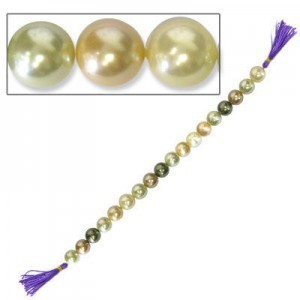 14mm Light Mix 16 Inch Strand Shell Pearl
