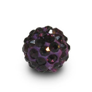 Disco Pave Round Beads 8mm Amethyst on Lightweight Epoxy Clay