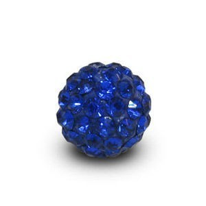 Disco Pave Round Beads 6mm Sapphire on Lightweight Epoxy Clay