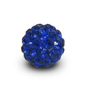 Disco Pave Round Beads 8mm Sapphire on Lightweight Epoxy Clay