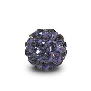 Disco Pave Round Beads 6mm Violet on Lightweight Epoxy Clay