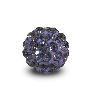 Disco Pave Round Beads 8mm Violet on Lightweight Epoxy Clay