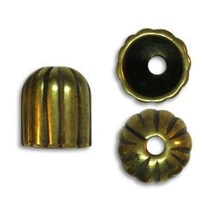 11.5mm End Cap Pewter W/ Ant Brass Finish 10 Pcs