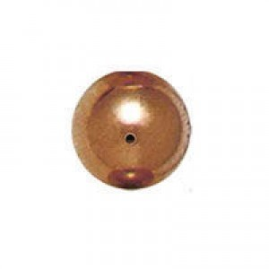 6mm Smooth Round Plastic Bead Plated Copper