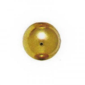 6mm Smooth Round Plastic Bead Plated Bright Gilt