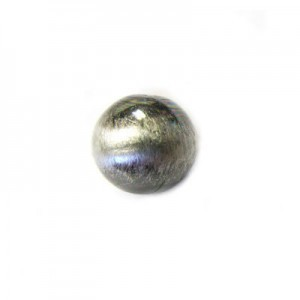 8mm Smooth Round Bead Brushed Satin Silver