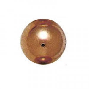 8mm Smooth Round Plastic Bead Plated Copper